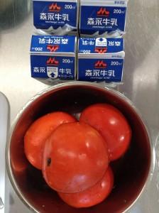 【彦成福祉会】柿のフルーチェ (1)